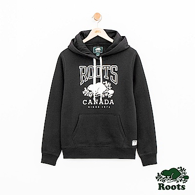 女裝Roots RBC連帽上衣-黑
