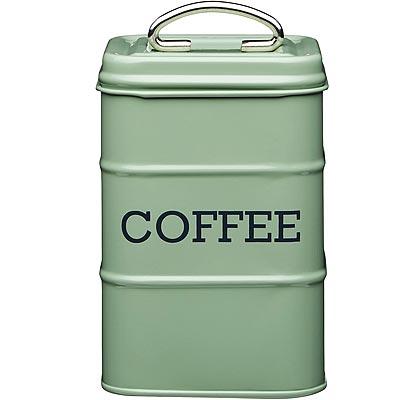 《KitchenCraft》復古咖啡收納罐(綠1300ml)