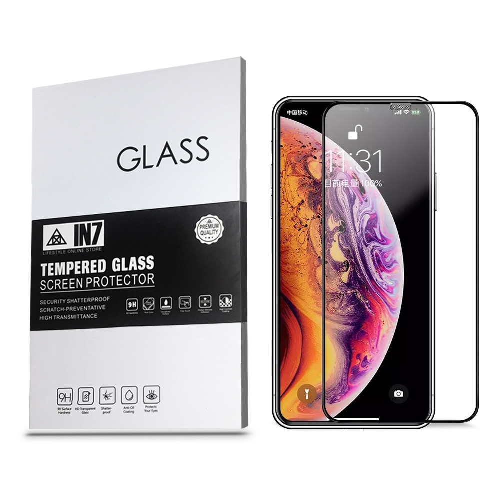 IN7 iPhone XR (6.1) 防塵網高透光3D滿版鋼化玻璃貼