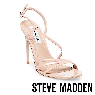 STEVE MADDEN-EDIE 露趾繞踝細高跟涼鞋-鏡粉