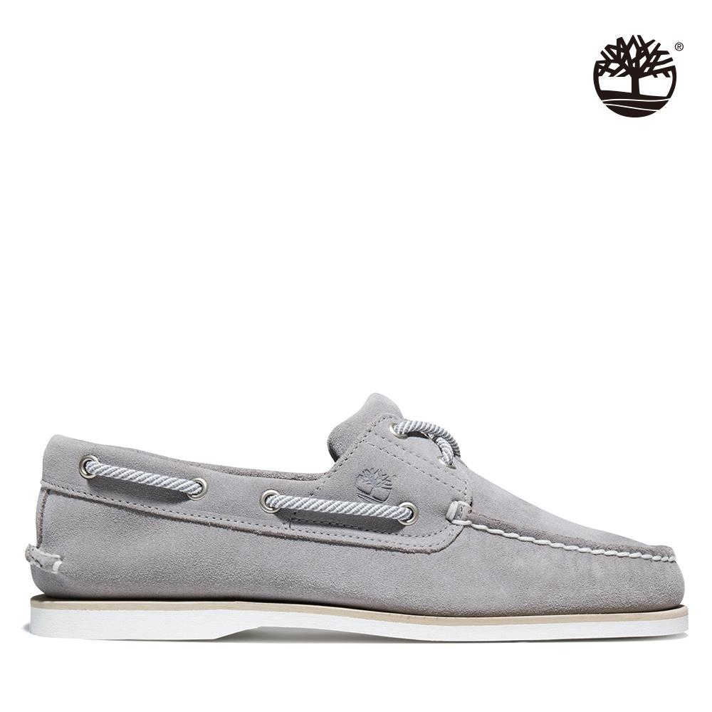 Timberland 男款灰色絨面皮革帆船鞋|A43W1