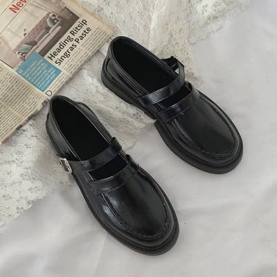 KEITH-WILL時尚鞋館 純淨簡約百搭英倫樂福鞋-黑