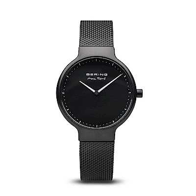 BERING-MAX RENE設計師聯名款 極致黑 米蘭錶帶31mm