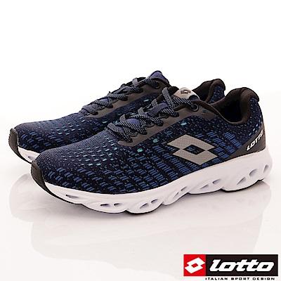 Lotto樂得-風動編織跑鞋-RSI606藍(男段)