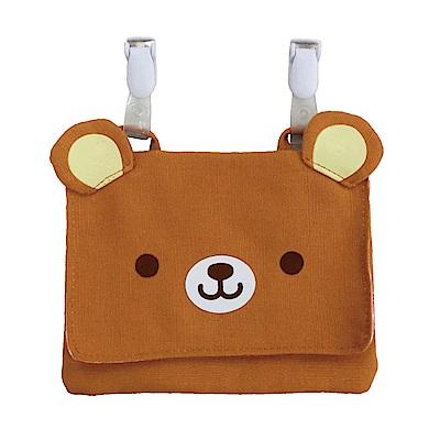 動物樂園可掛飾收納包。小棕熊 UNIQUE