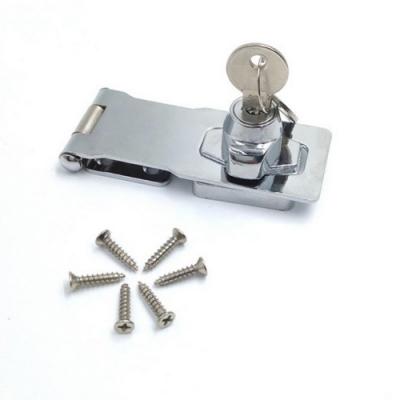 LP004 板扣鎖 4寸/100MM 鋅合金 反扣鎖櫥櫃鎖 迫緊式門扣鎖 固展凸窗鎖專用