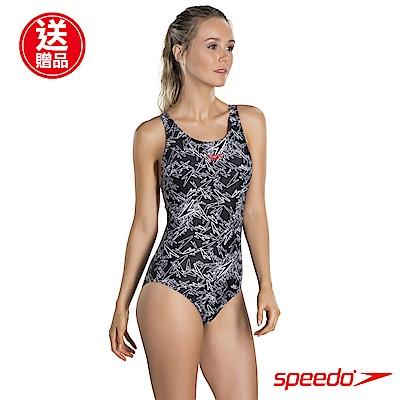 SPEEDO 女 運動連身泳裝Boom AL MB 黑-白