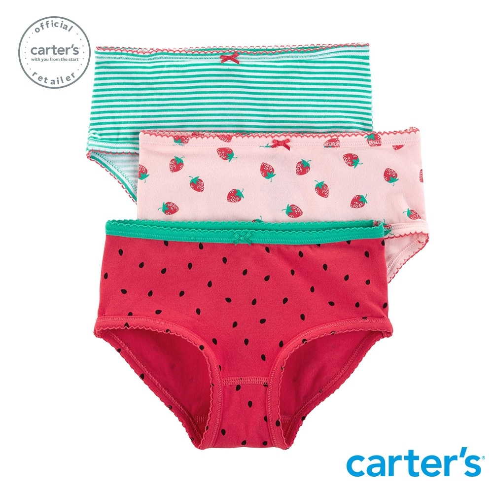 Carter's台灣總代理 繽紛草莓3件組三角褲