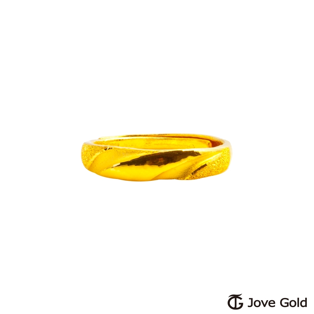 Jove Gold 漾金飾 愛河黃金女戒指