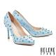 高跟鞋 HELENE SPARK 前衛優雅感鉚釘尖頭美型高跟鞋-藍 product thumbnail 1