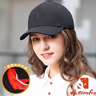 挪威 ACTIONFOX 新款 時尚休閒棉質棒球帽_黑