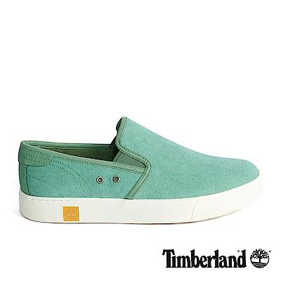 Timberland 男款淺綠色絨面雙側鬆緊便鞋