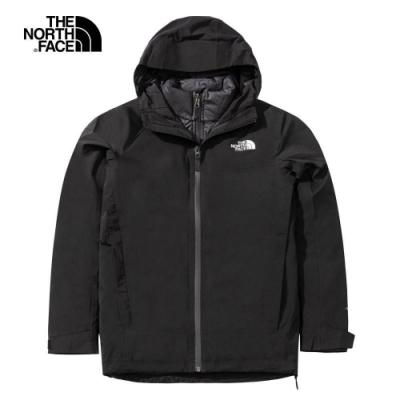 The North Face 女 防水透氣三合一登山外套 黑-NF0A4NAHJK3