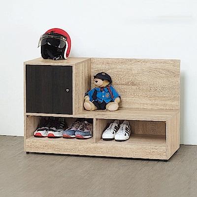 Bernice-緹米3.7尺開放坐式鞋櫃/穿鞋椅(兩色可選)-110x37x68cm