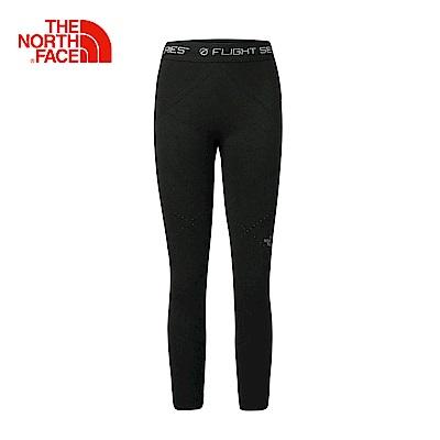 The North Face北面女款黑色吸濕排汗透氣緊身褲