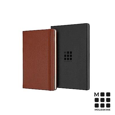 MOLESKINE 經典皮革筆記本禮盒(L型橫線)-棕