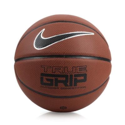 Nike 籃球 True Grip 運動 十字紋 標準7號球 室內外 PU材質 耐磨 咖啡 黑 NKI0785507