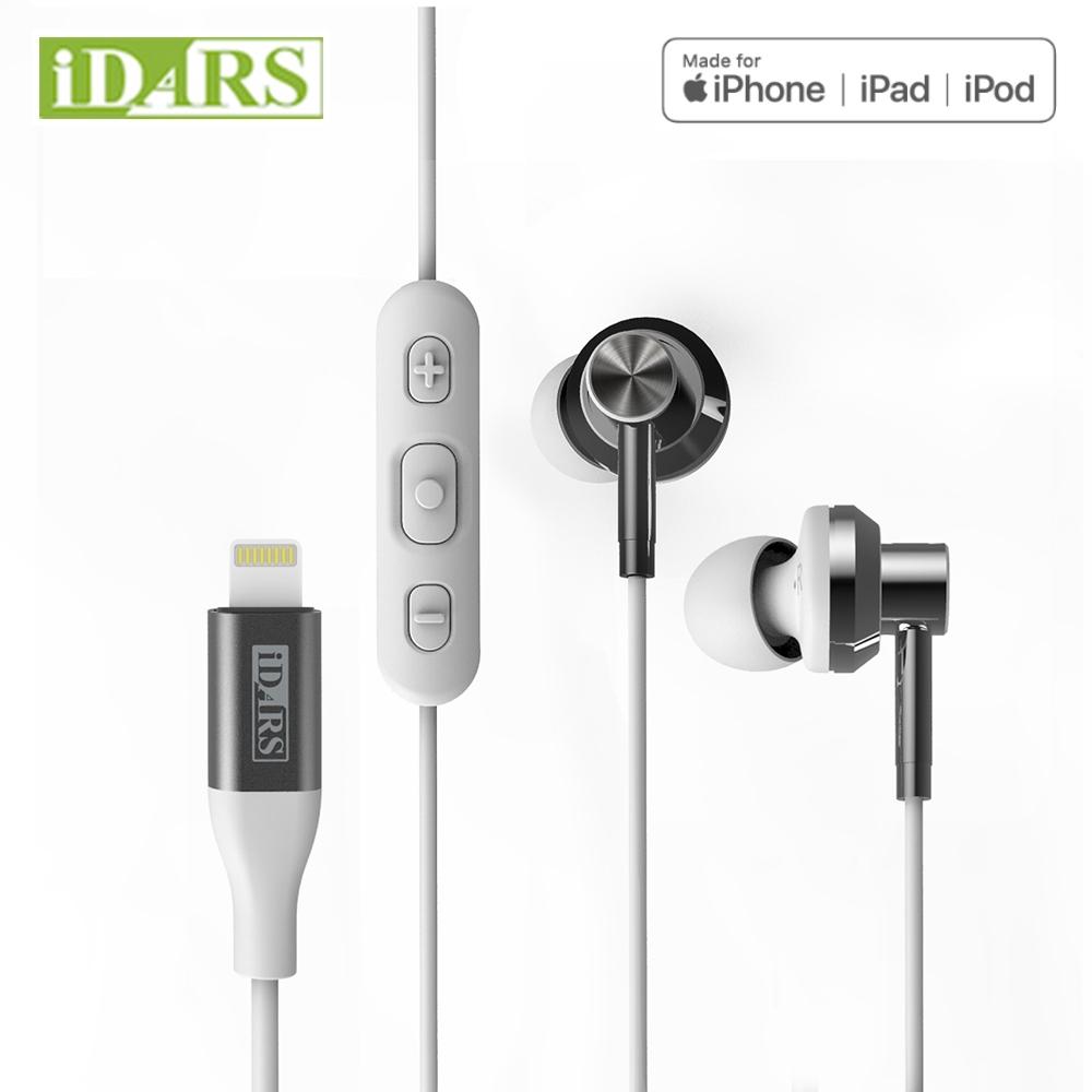 IDARS Apple Lightning MFI認證耳機(IPHONE/IPAD)純潔白