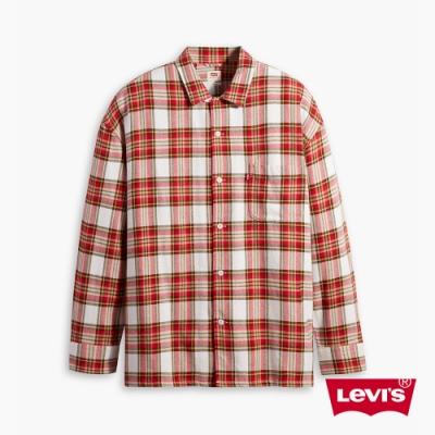 Levis 男款 格紋襯衫 Oversize寬鬆版型 復古學院風