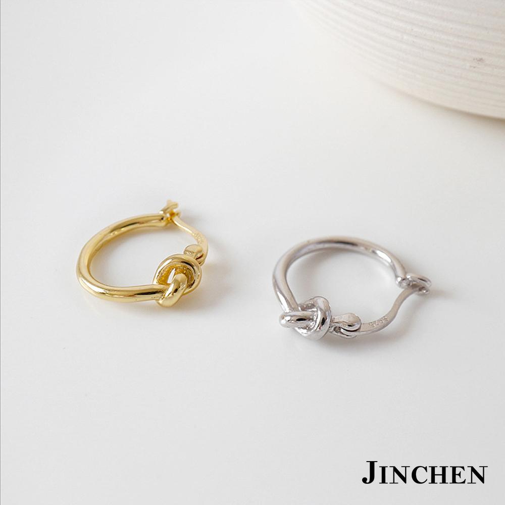 JINCHEN 純銀打結耳環
