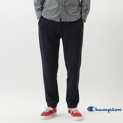Champion Basic Slim Fit 縮口運動休閒棉褲 深藍
