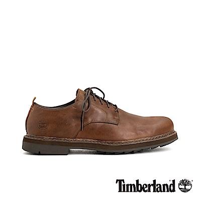 Timberland 男款中咖啡色商務皮革牛津休閒鞋|A1U4H