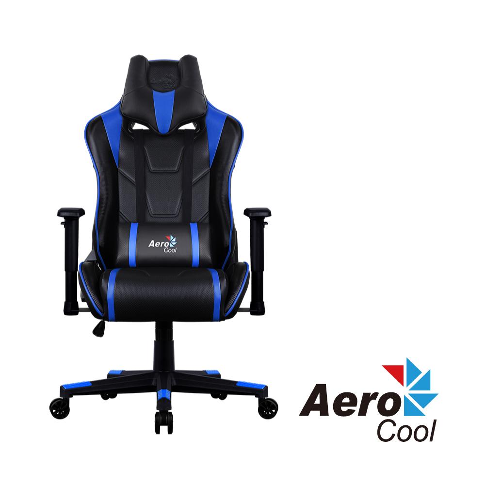 【Aerocool 愛樂酷 】AC220 AIR系列 競速超跑電競賽車椅(黑藍色)