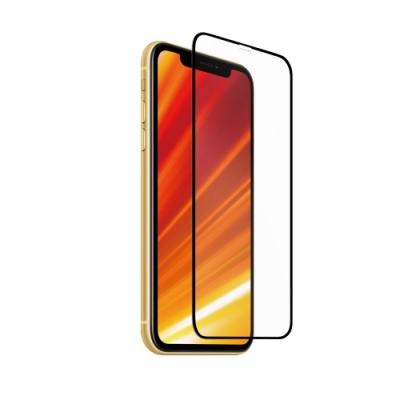 Riivan iPhone XR 2.5D滿版鋼化玻璃保護貼-黑(送貼膜神器)