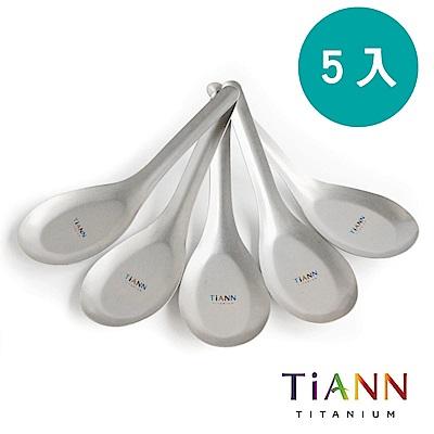 TiANN純鈦 經典台式湯匙 5入
