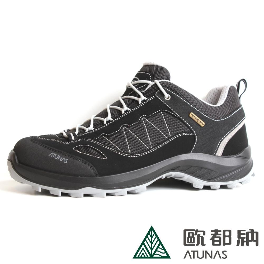 【ATUNAS 歐都納】男款防水透氣抗臭寬楦低筒健行鞋A1GCBB01N/休閒登山鞋