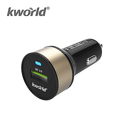 Kworld 廣寰 QC 3 . 0  單孔車用充電器 CAR 03100