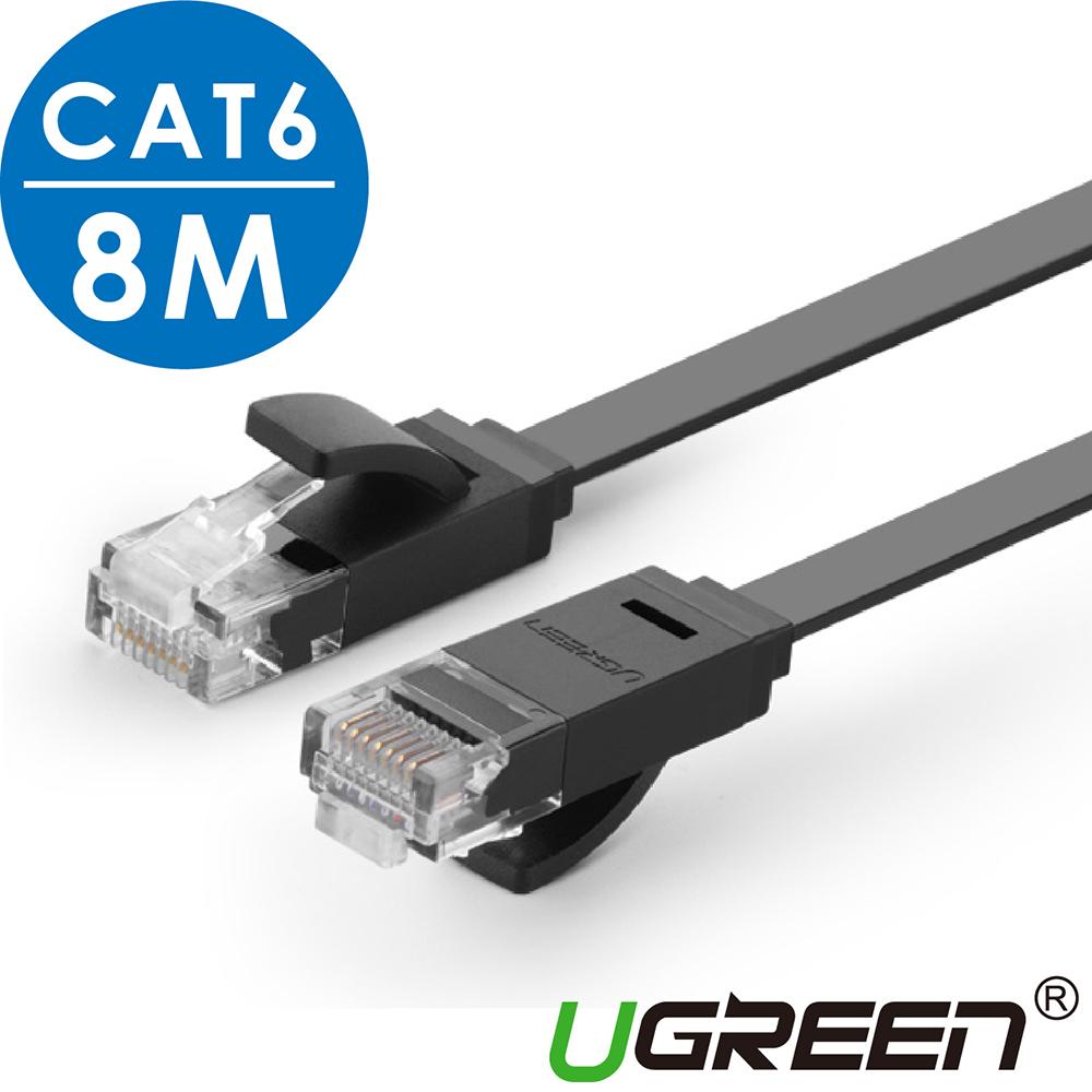 綠聯  CAT6網路線 FLAT版 黑色 8M @ Y!購物