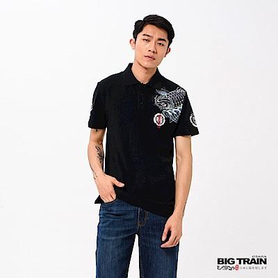 BIG TRAIN 登龍波鯉POLO衫-男-黑色