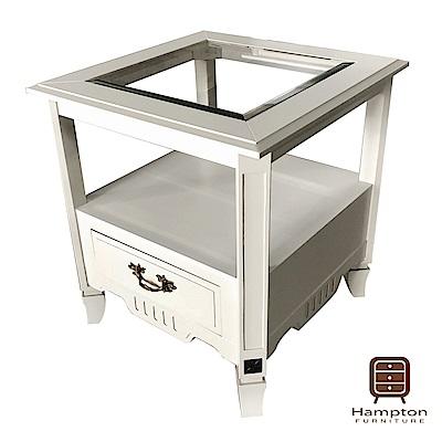 漢妮Hampton米羅玻璃邊桌-55x55x60cm