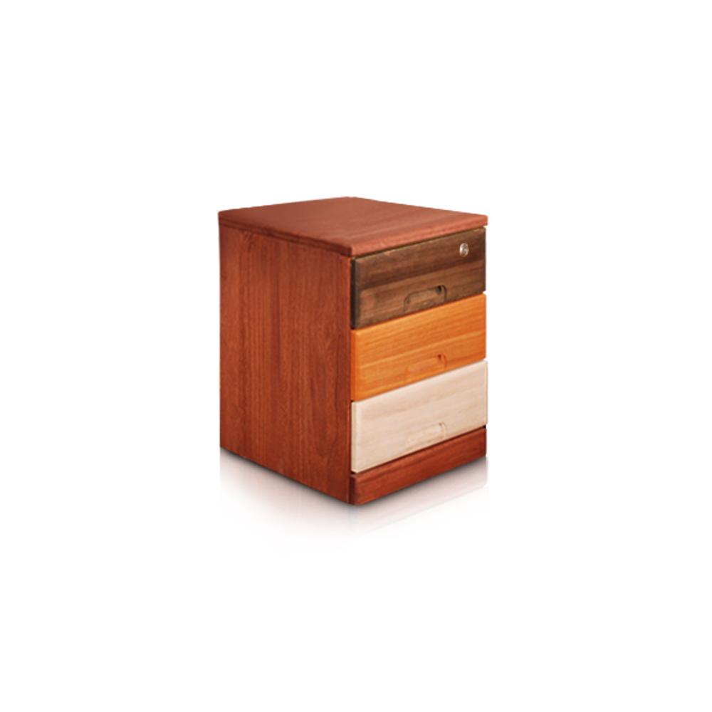 桐趣-木。工房3抽實木收納櫃