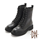 DN短靴_質感牛皮綁造型經典厚底馬汀靴-黑 product thumbnail 1