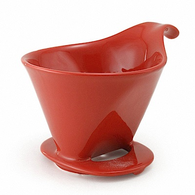 ZERO JAPAN 典藏陶瓷咖啡漏斗(大)(蕃茄紅)