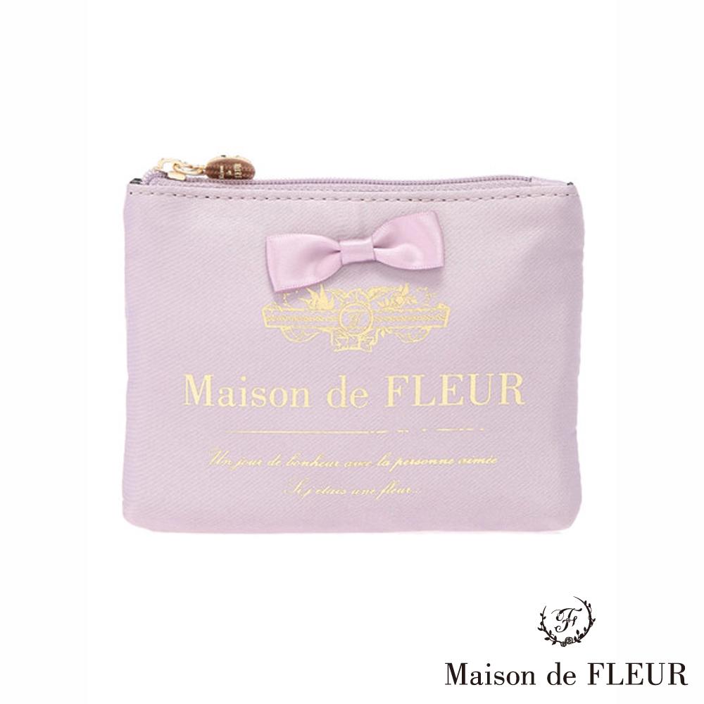 Maison de FLEUR  LOGO打印蝴蝶結裝飾零錢包