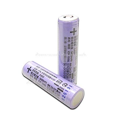 LG 安全認證 凸頭18650充電鋰電池 3400mAh(2顆入)贈電池盒