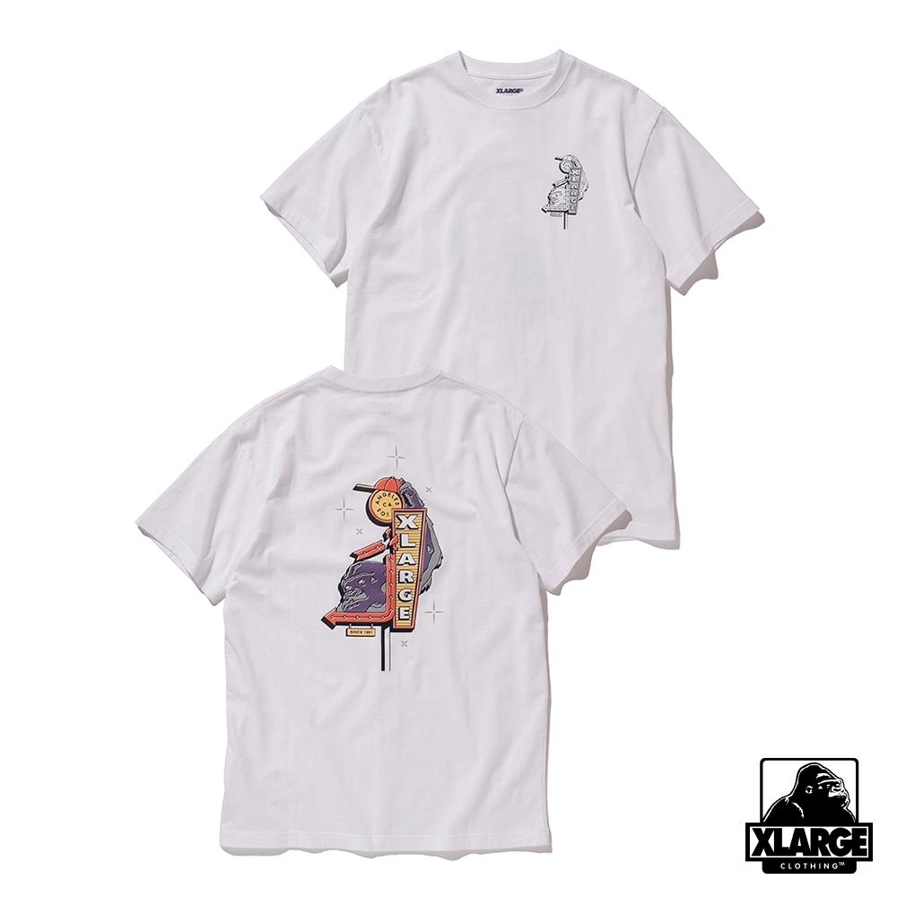 XLARGE S/S TEE CHECKOUT短袖T恤-白