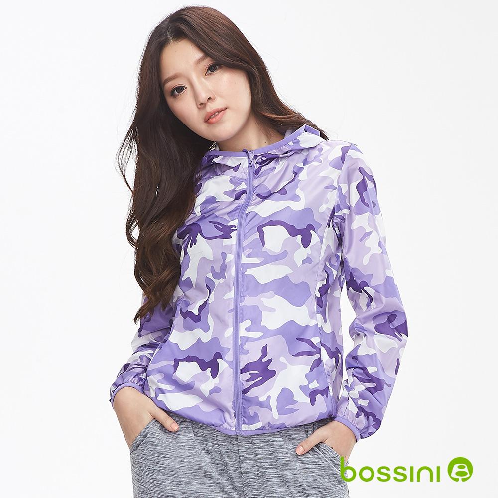 bossini女裝-多功能輕便風衣01淡紫
