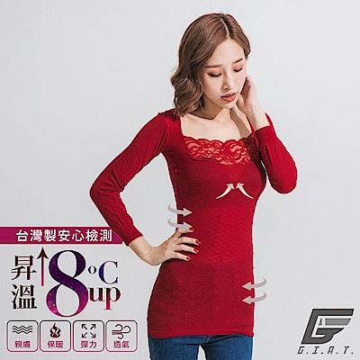GIAT150D蕾絲美型機能保暖衣(一般款/蔚瓔紅)