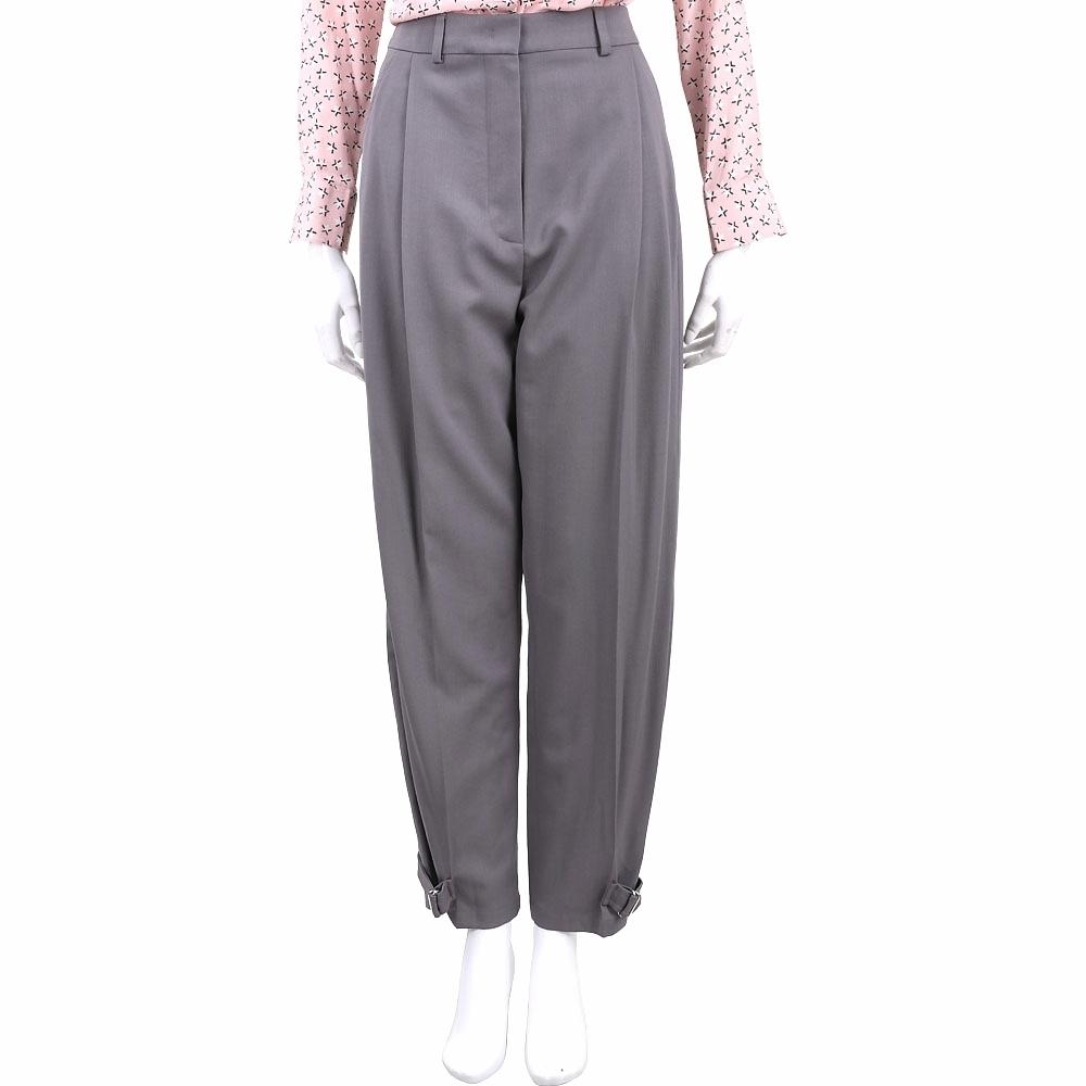 Max Mara-SPORTMAX 時髦可調式縮口褲管灰色抓摺長褲
