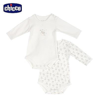 chicco-星空熊系列-長袖連身衣二入-米(3-24個月)
