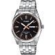 CASIO 卡西歐 城市日曆手錶-黑x銀(MTP-1335D-1A2V) product thumbnail 1