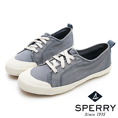 SPERRY 時尚簡約低筒帆布鞋(女)-灰色