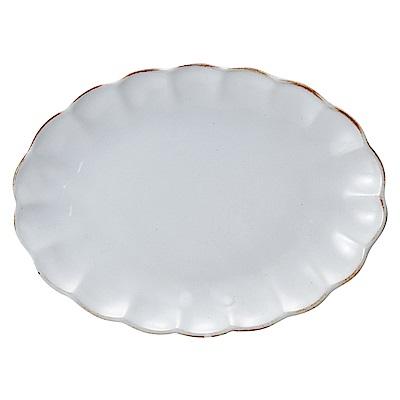 日本Meister Hand FLOR 雛菊橢圓形蛋糕盤 白色