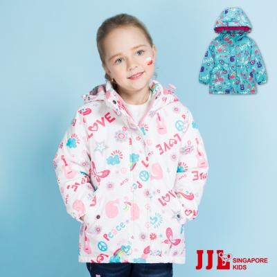 JJLKIDS 繽紛世界內鋪棉防風連帽外套(2色)