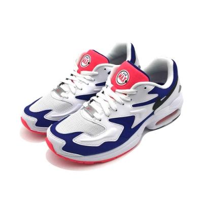 NIKE AIR MAX2 LIGHT 男休閒鞋 藍白
