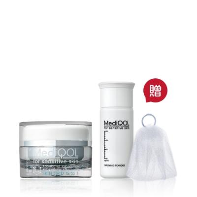 MediQOL 安肌修護1號滋潤霜 30g(贈安肌健康潔膚粉 3.5g+起泡網)